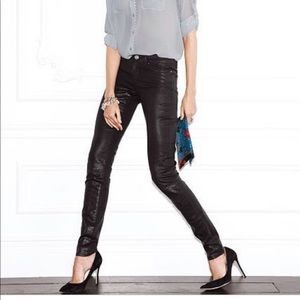 Denim - Victoria's Secret midrise black coated jeans